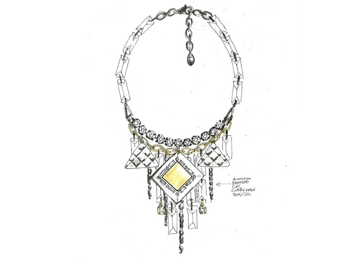 A sketch from Kardashian's upcoming jewelry line.