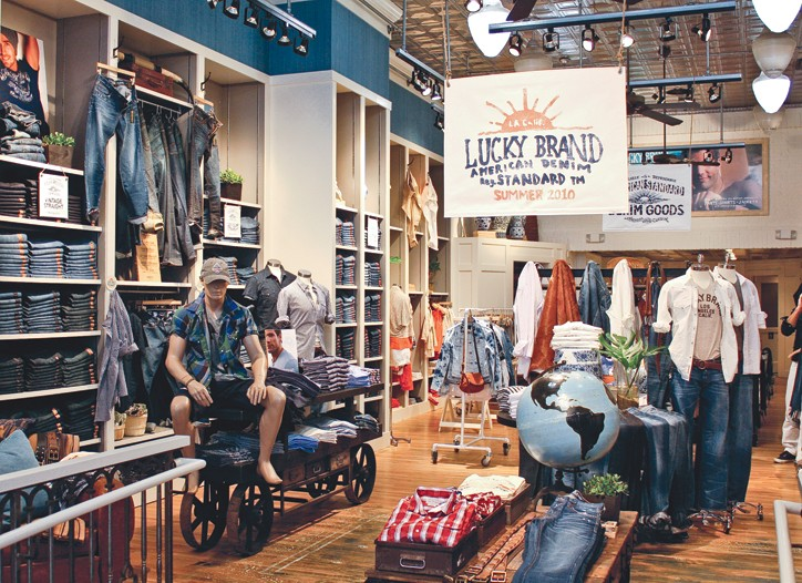Lucky Brand renovated its flagship on San Francisco's Grant Street.