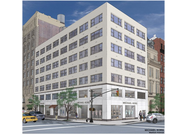 An exterior rendering of Michael Kors' new Collection boutique.