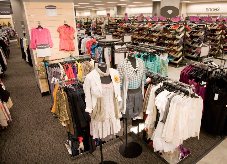Inside Manhattan's first Rack off-price store.