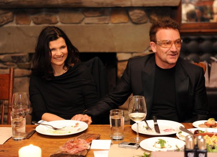 Ali Hewson and Bono.