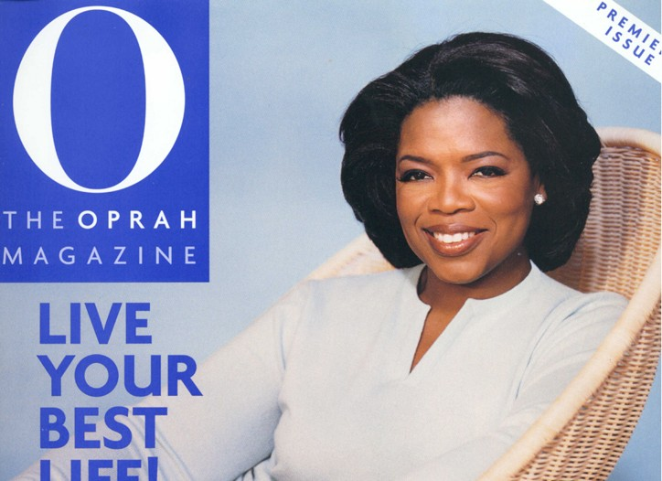 The Cover of O magazine.