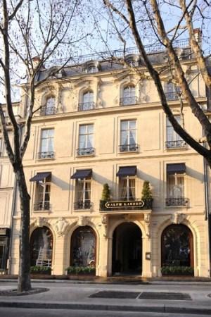 Ralph Lauren's 23,000-square-foot flagship in Paris.