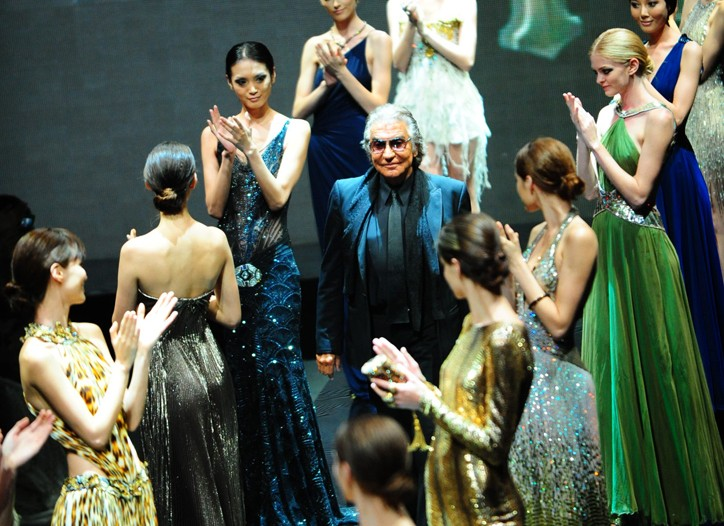 Roberto Cavalli closed the fashion festivities.