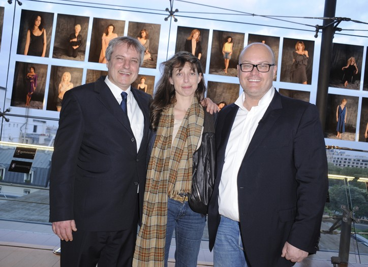 Philippe Founes, Kate Barry and Jean-Michel Duriez.
