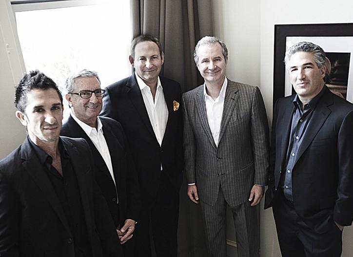 Davis Factor, Budd Taylor, John Demsey, Fabrizio Freda and Dean Factor.