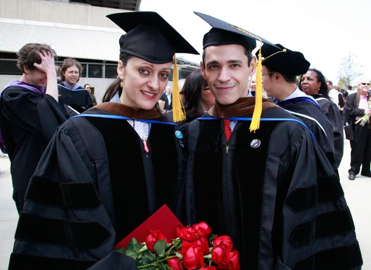 Isabel and Ruben Toledo received honorary doctorate degrees from Otis College of Art and Design.