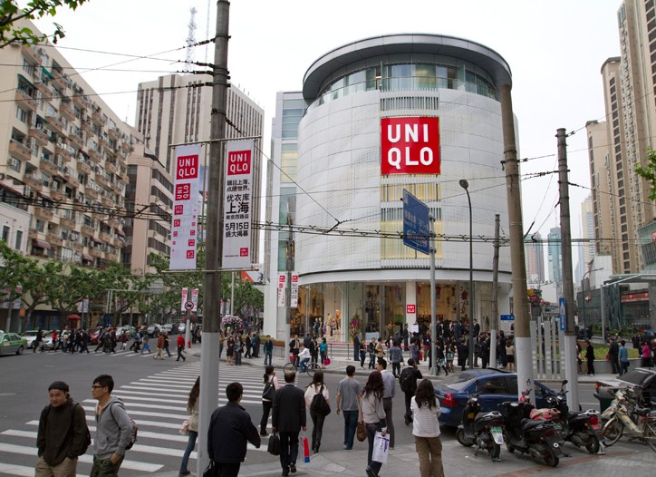 A view of the Uniqlo Flagship in Shanghai.