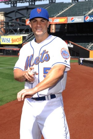 David Wright with a Mission Skincare sunscreen.