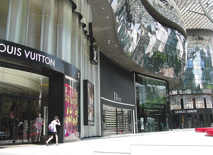 Shopping is busy in Singapore's glitzy malls on Orchard Road.