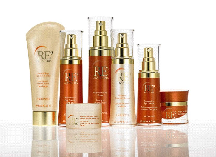 RE9 Advanced items from Arbonne.