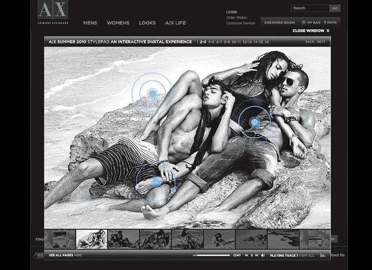 A|X Stylepad is an interactive digital portfolio that features the brand's ad campaigns.