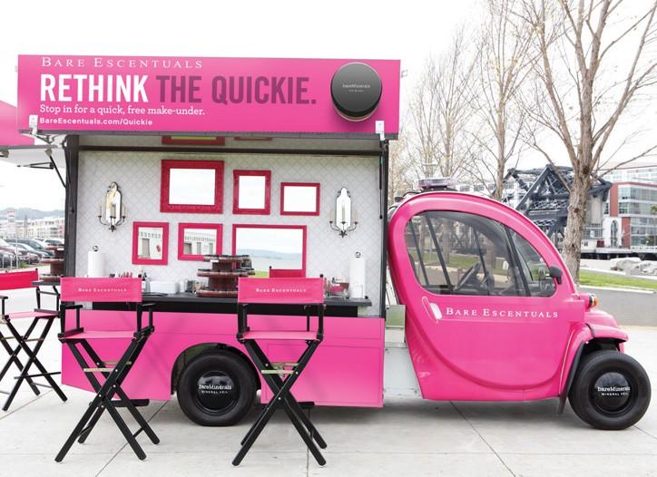 A Bare Escentuals Quickie Van