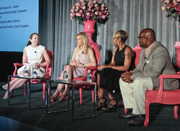 Moderator Jenny B. Fine, Mindy Grossman, Mary J. Blige and Steve Stoute.