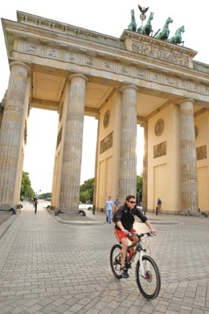 The Brandenburg Gate is home to a number of fashion shows.