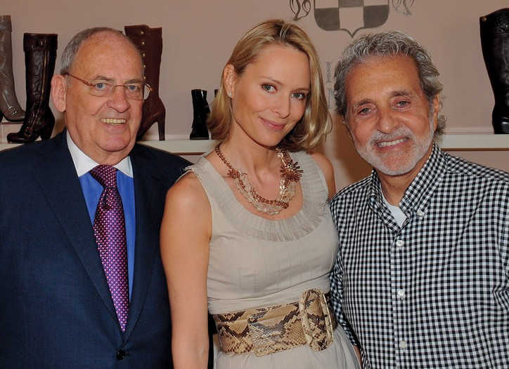 Fred Purches; Louise Camuto, president of marketing and communications, and Vince Camuto.