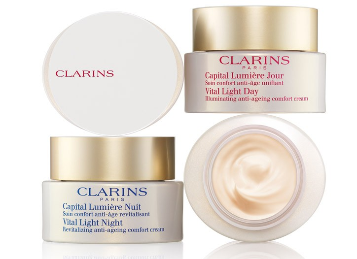 Clarins Vital Light day cream and night cream