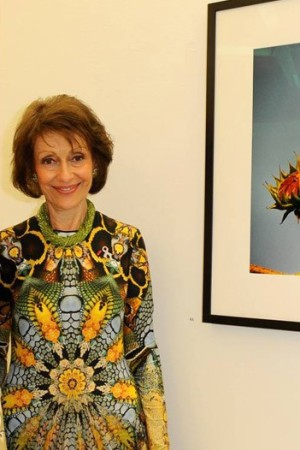 Evelyn Lauder at her Paris opening.
