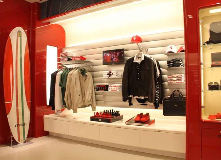 Ferrari's Park Avenue showroom.