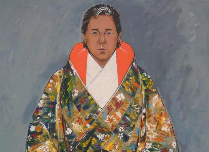 A self-portrait by Kenzo Takada.