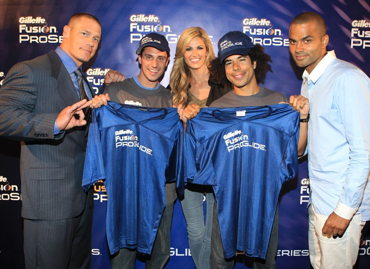 John Cena, Jason Fisher, Erin Andrews, Adam Ward and Tony Parker.