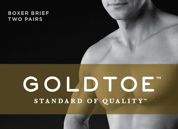 Gold Toe underwear has taken its packaging cues from designer labels.