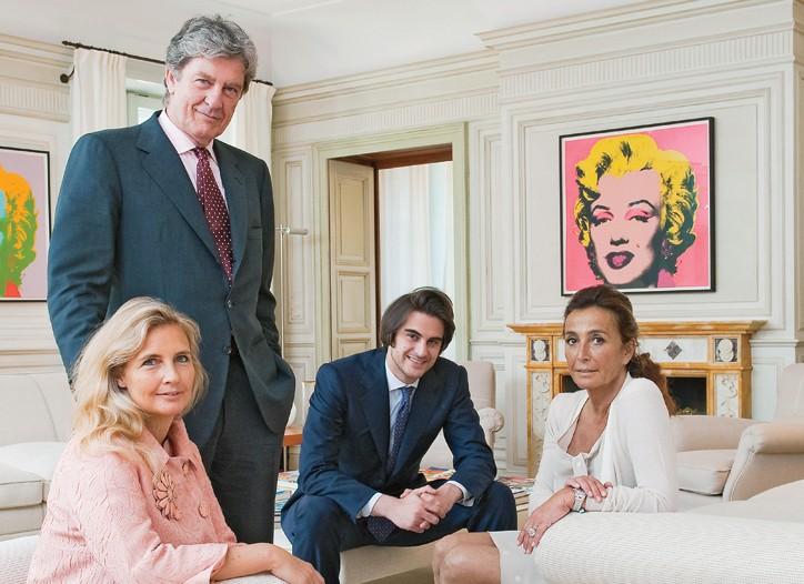 From left: Arabella, Dario, Gianandrea and Madina Ferrari in their milan home.