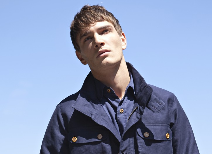 Bleu de Paname's jacket, shirt and twill work pants, all in cotton.