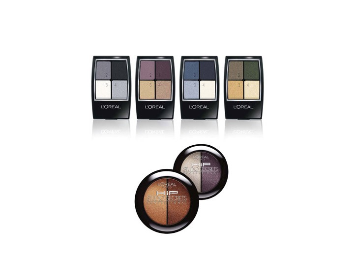 L'Oreal's Studio Secrets Professional Smokey Eye quads.