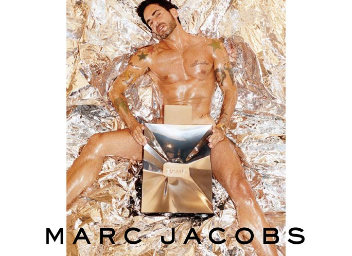 Big Bang: The anchor visual for the July launch of Marc Jacobs' new men's fragrance. Tamer variations will run in the Midwest and Middle East.
