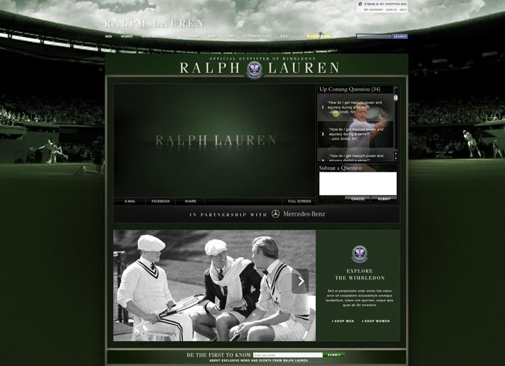 Views of the Legends Clinic at ralphlauren.com.