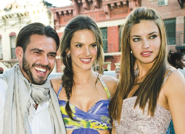 Lorenzo Martone, Alessandra Ambrosio and Adriana Lima.