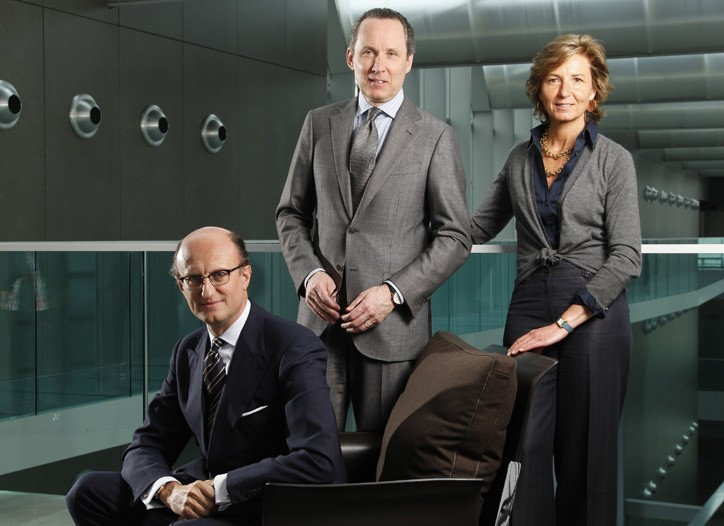 Generation Z: Paolo, Gildo and Anna Zegna in the Milan headquarters.
