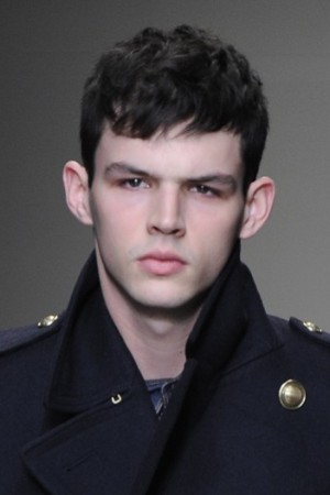 Tom Nicon on the Burberry runway.