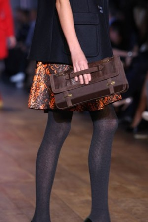 A Tommy Hilfiger handbag on the runway.