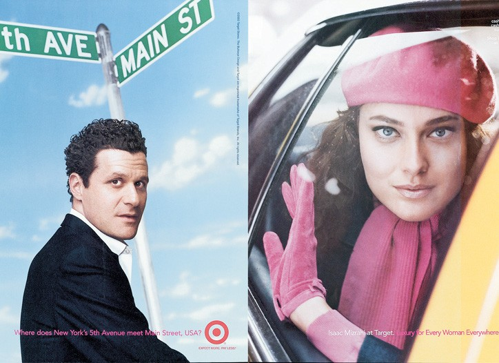 Isaac Mizrahi and accessories from his Target collection.