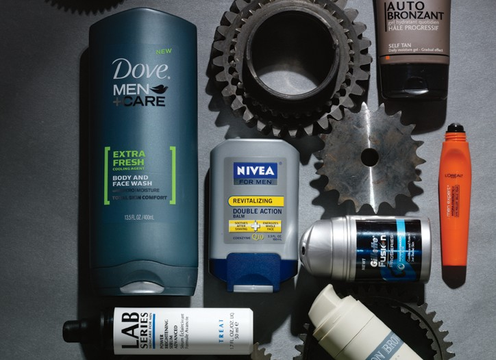 Top Gear - Packed with potent natural ingredients, the newest men's skin care promises to delay aging, soothe skin and protect against the blade.