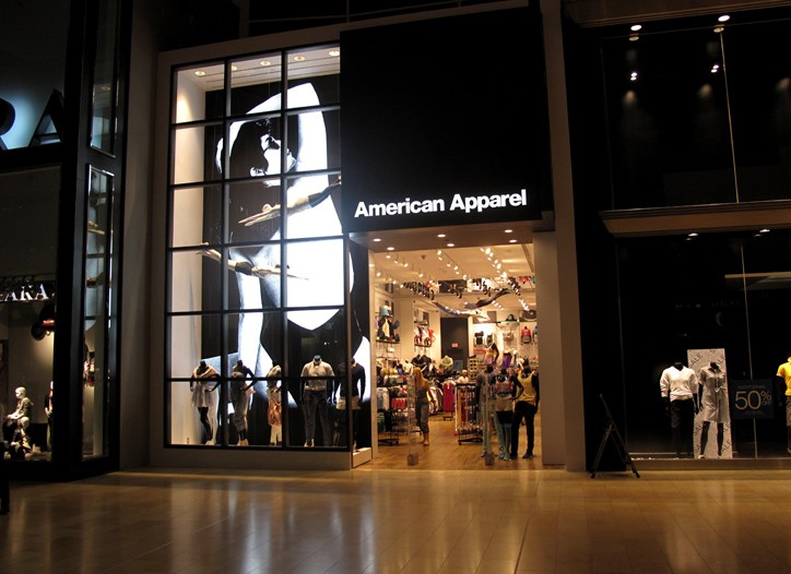 American Apparel shares were up 10.2 percent, but are down 41 percent so far this year.