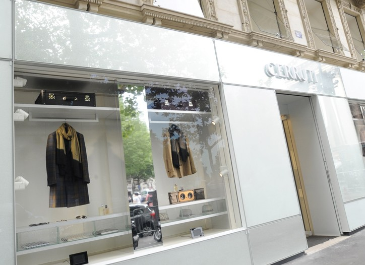 The Cerruti flagship in Paris.