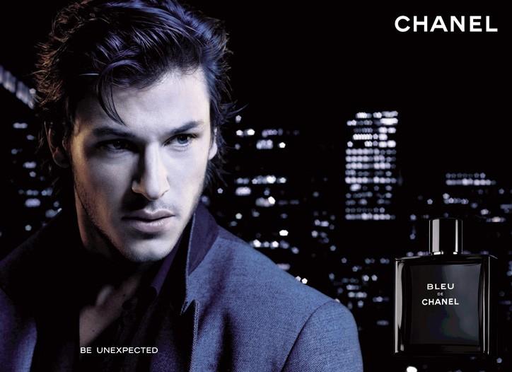An ad visual for Bleu de Chanel.