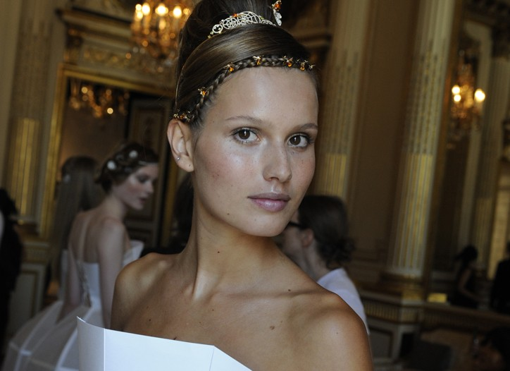 """A tiara and """"head jewels"""" from Chaumet's Catch Me If You Can line."""