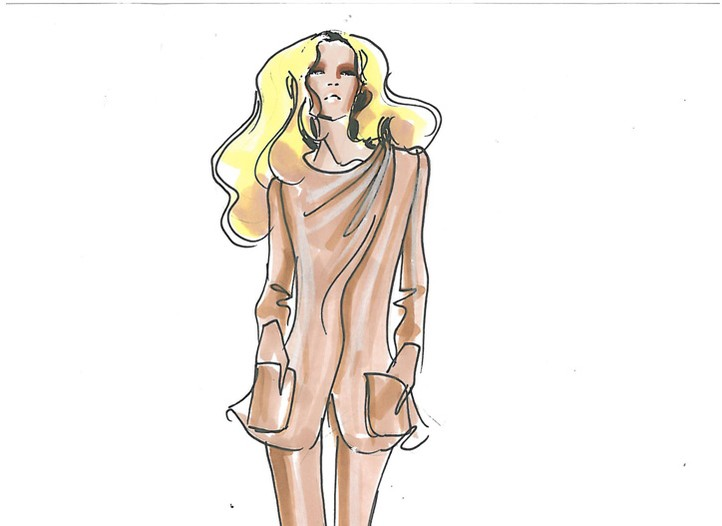 A sketch of the next Armani Prive couture collection