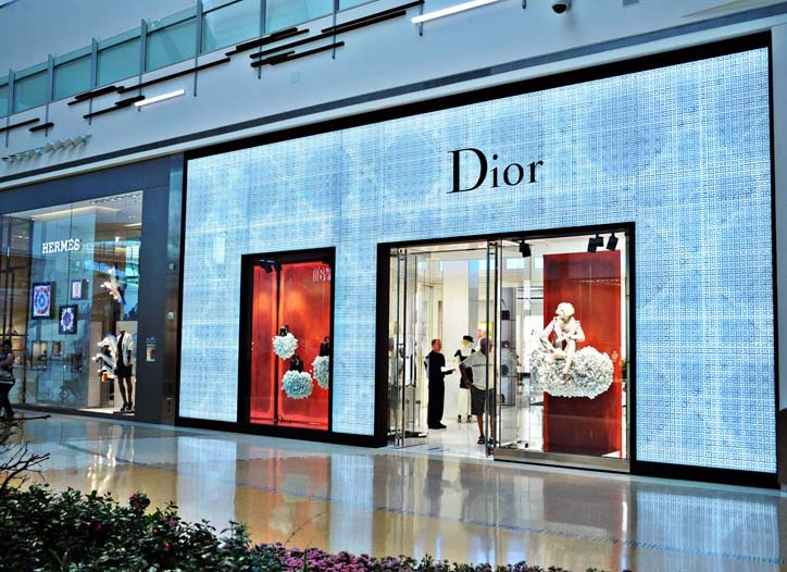 Views of the new Dior store in Las Vegas.