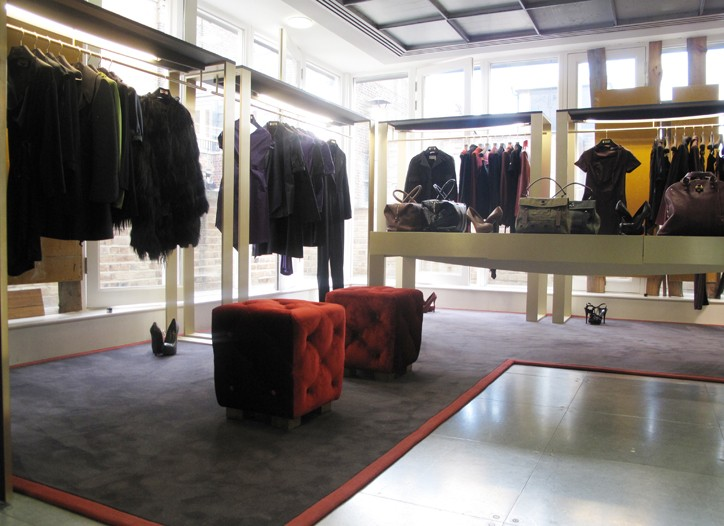 The Yves Saint Laurent area at Dover Street Market.