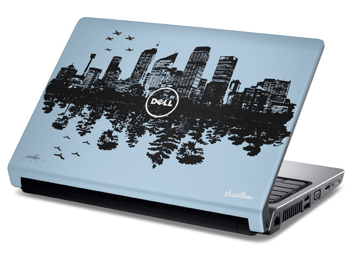 Threadless will create laptops with Dell featuring artists' designs.