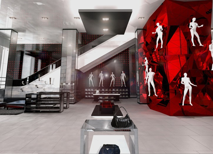 A rendering of the Guess flagship in Manhattan.