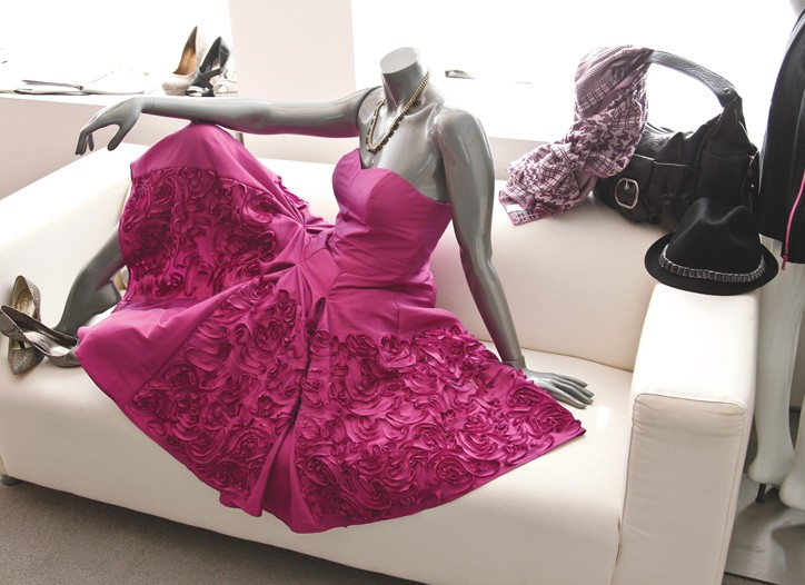 A Jessica Simpson display in the G-III showroom.