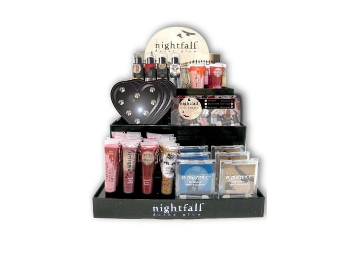 Karmin's Nightfall collection display.