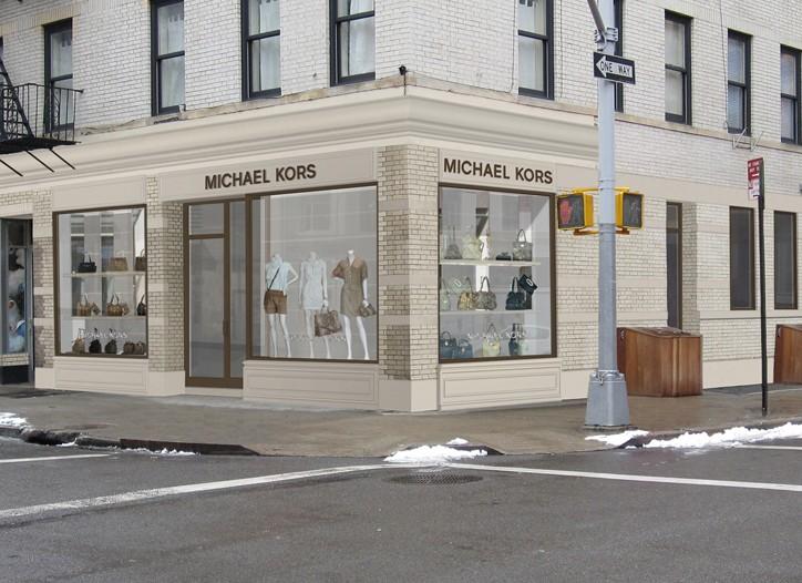 A rendering of Michael Kors' unit on Bleecker Street.