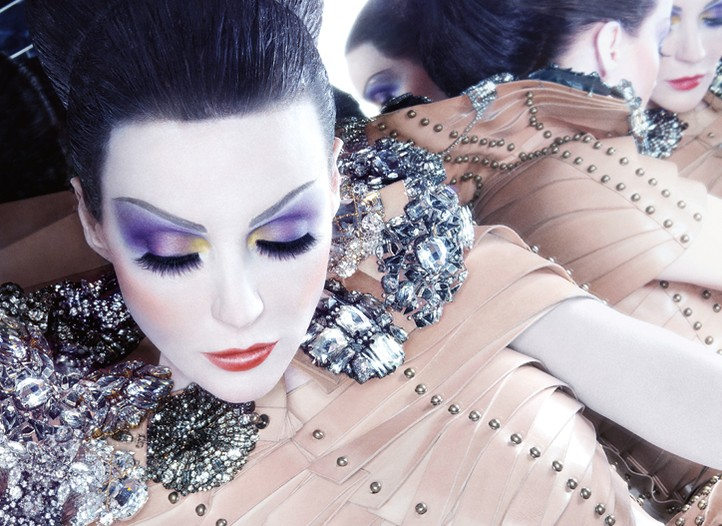 Daphne Guinness in the fall campaign for Nars